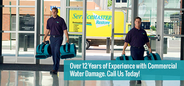 Over 12 Years of Experience with Commercial Water Damage.