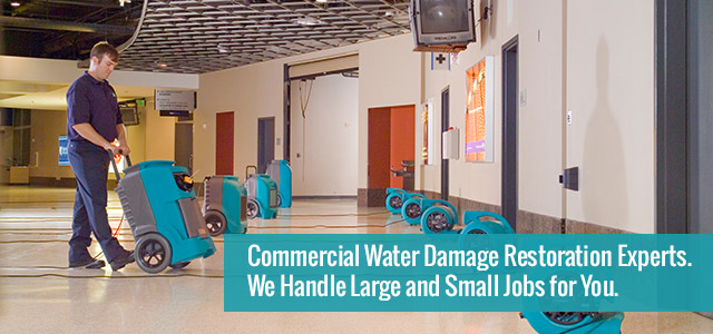 Commercial Water Damage Restoration Experts.